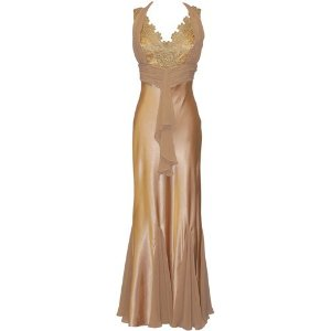 Gold Lace Halter Dress